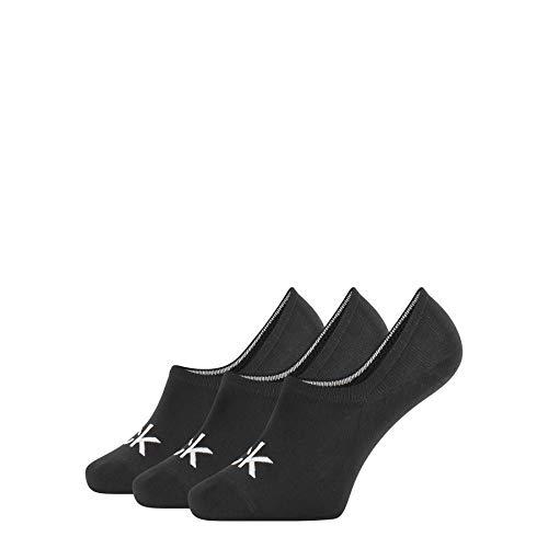 Calvin Klein Socks Herren Eca343 Sneakersocken, Schwarz (Black 00), 40/46 (Herstellergröße: 40-46) (3erpack Calzini, Nero, Taglia Unica Uomo
