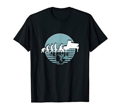 Evolution Pianist   Klavier spielen   Musik   Flügel T-Shirt