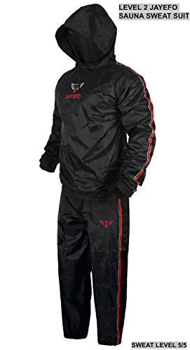 Jayefo Level 2 Sauna Sweat Suit (X-Large, Hooded)