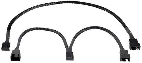 Poppstar PWM Lüfter Kabel Set 4-Pin (15cm Y-Kabel (1x Buchse auf 2X Stecker) + 30cm Verlängerungskabel), zum Anschluss von Prozessor- und Gehäuselüfter an Mainboard