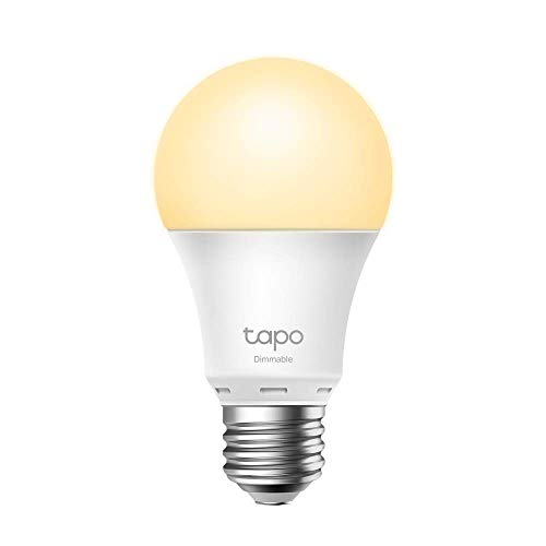 TP-Link -Smart LED Bulb, WiFi Bulb without Hub, Warm White, Dimmable, E27, 8.7W 806lm, Compatible Alexa, Echo and Google Home, [Clase de eficiencia energética A+] (Tapo L510E)
