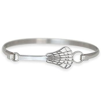 Lacrosse Bangle Bracelet   Stainless Steel   Hypo-Allergenic   Lacrosse Stick