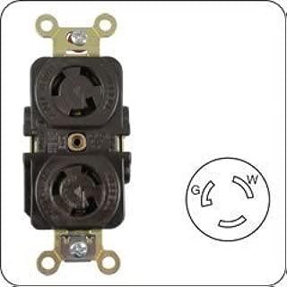 1- ARROW HART AH4700 (HBL4700) 15 AMP 125V 2 POLE, 3 WIRE, NEMA L5-15R DUPLEX LOCKING RECEPTACLE 3W 2P 15A TWIST LOCK 4700