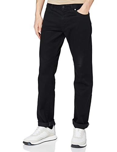 BOSS Herren Maine BC-C Regular-Fit Jeans aus dunklem Stretch-Denim