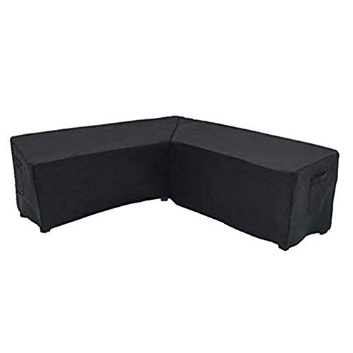 XHXseller V Shaped Garden Furniture Covers,Protective Cover for Corner Sofa,Outdoor Sectional Furniture Set Covers,Patio Furniture Cover Waterproof,Outdoor Patio Rattan Corner Sofa Cover
