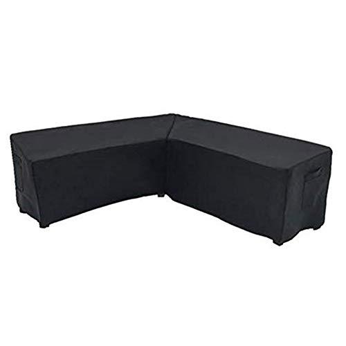 Funda para muebles en forma de V, funda de sofá esquinero de poliéster para muebles de jardín, funda protectora para sofá esquinero, resistente al agua al aire libre