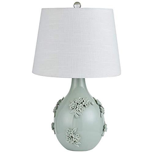BJLWTQ Lámpara de Mesa, lámpara de Mesa Iluminación de Interior Retro, cerámica Tallado Dormitorio lámpara de cabecera de la Sala de Bodas decoración de lámparas de Escritorio 35,5 * 35,5 * 56cm