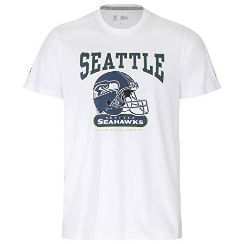 New Era Herren T-Shirt NFL Archie Tee Seattle Seahawks - White M