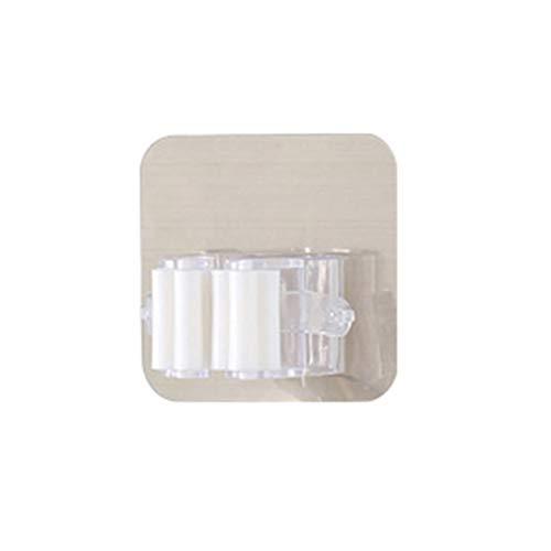 Mopphalter Besenclip Nahtloser Haken Punch Free Badezimmer Küche Wandbehang Weiße Einzelschnalle