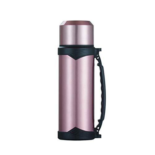 1.2L 1L del tamaño Grande de la Taza del vacío Viaje termos de Acero Inoxidable al Aire Libre termos de Botella térmica de café termos Copa, AQW263 1000ml Verde huangcui (Color : Aqw625 1200ml Pink)