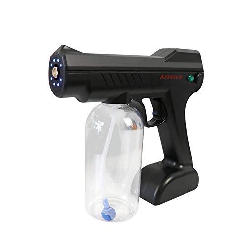 Pequeño contenedor de esterilización800ml máquina de niebla eléctrica portátil, pulverizador desinfectante de mano, pistola de pulverización azul de Nano Steam para la oficina de la escuela del hogar,