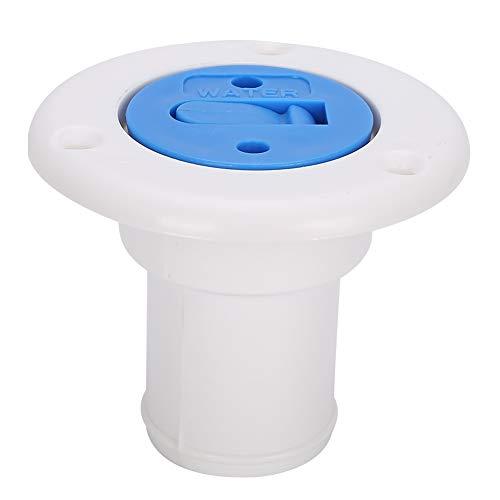 Qiilu-Wassereinfülldeckel, 100% nagelneuer Deck-Wassereinfülldeckel Fülltankflansch für Schlauch mit 38 mm Innendurchmesser