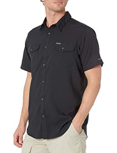 Columbia Camisa de Manga Corta para Hombre Utilizer II, Hombre, Camisetas con Cuello Abotonado, 1577761, Negro, XL