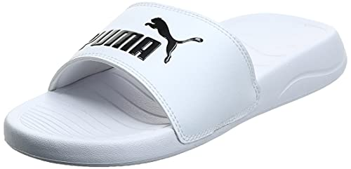 PUMA Popcat 20, Zapatos de Playa y Piscina Unisex Adulto, White Black, 47 EU