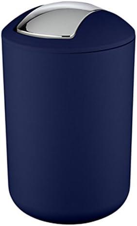 WENKO 22521100Abfalleimer Brasil L, dunkelblau, Ø 19,5x 31cm