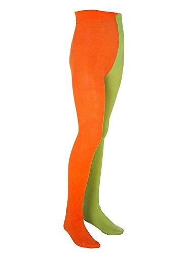 Pippi Langstrumpf Kinder Strumpfhose Lizenzware orange grün 122-134