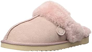 Dearfoams Women's Fireside Water Resistent Sydney Shearling Scuff Slipper