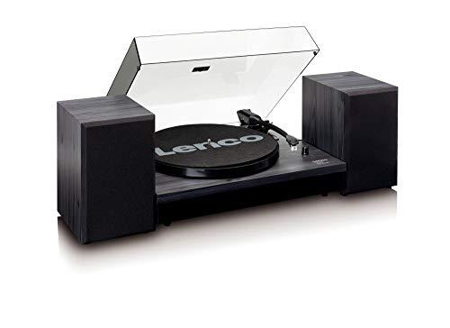 Lenco (Ls-300 Black) Con Diffusori Acustici Inclusi,Bluetooth Traz,Cinghia