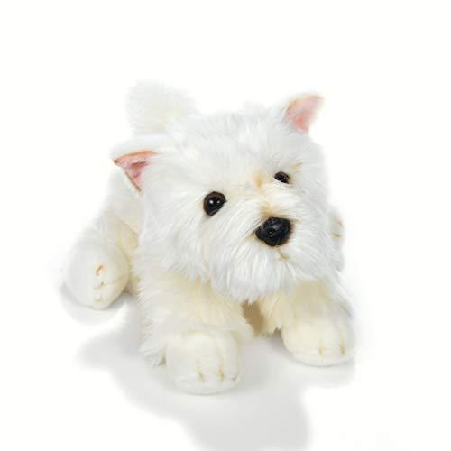 Plush & Company Plush & Company_15886 Angie-Dog Westie 30 cm Länge, Mehrfarbig