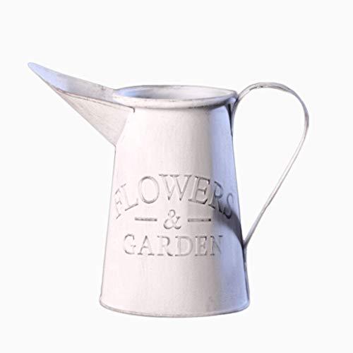 Arrosoirs Bouilloire En Fer Forgé Nordic Garden Pot À Fleurs À Long Bouche A+ (Couleur : Blanc, taille : 27x14x20cm)