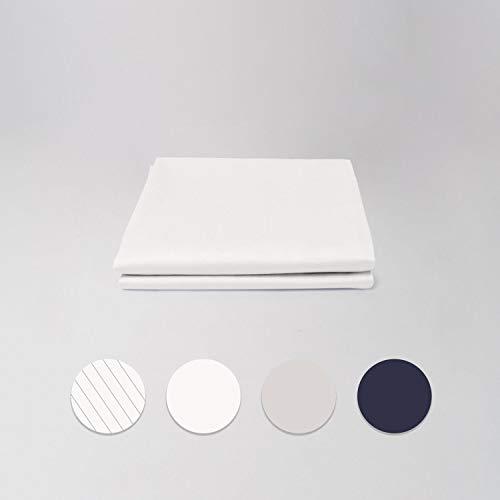 cloudlinen Kissen Set aus 100% Extra-Langstapeliger Premium Baumwolle - 2 * 80x40 (Kissen) - weiß einfarbig/unifarben - kuscheliger, Warmer und weicher Mako Satin