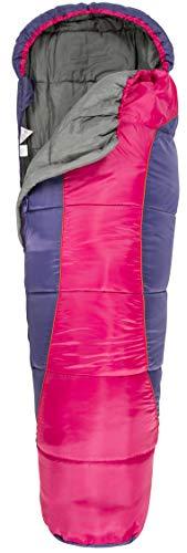 Trespass Unisex, Jugendliche BUNKA 3-Jahreszeiten-Schlafsack mit Hohlfaserfüllung, 170 x 65 x 45 cm, violett, 170 cm x 65 cm x 45 cm