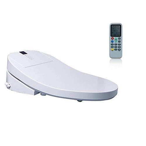 Yppss - Asiento de inodoro electrónico inteligente con mando a distancia, agua templada, aire caliente, secadora, asientos calefactables, autolimpieza en acero inoxidable, boquilla eternal