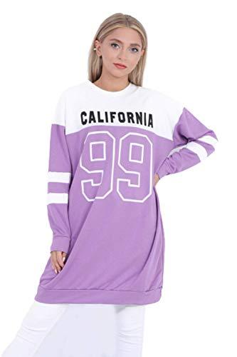 LW LuxuryWest | California 99 Collection | Langarm Pullover | Sweatshirts | Hoodie | Lang Pulli | Damen | Herbst | Winter | Lang | Täglich | Tops | (M, Lila)