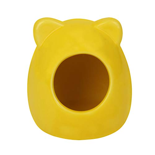 POPETPOP Ceramic Hamster Hideout Nest - Hamster Sand Bath Rat Dust Bath - Summer Cool Small Animal Pet Nesting Habitat Cage Random Colors