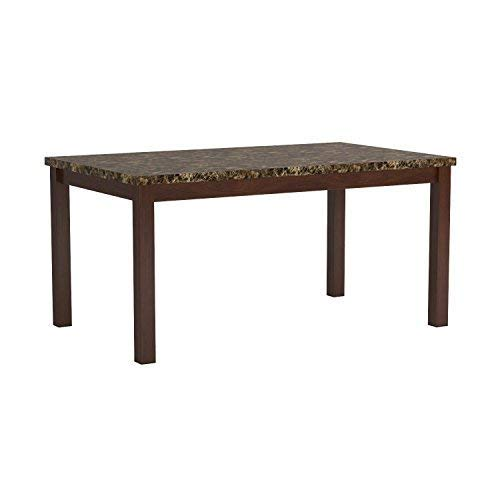 Telegraph Marble Top Dining Table Warm Brown