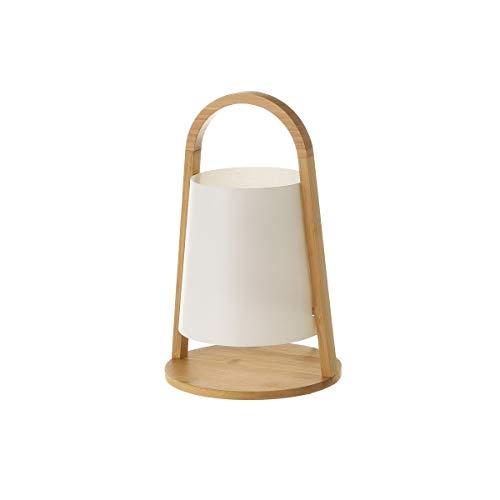 Lámpara de mesa farol de bambú beige de Ø 20x32 cm