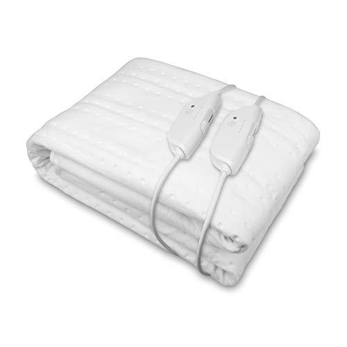 Medisana HU 676 XXL-Wärmeunterbett King Size mit 2 Bedienelementen, 150 x 160 cm, Abschaltautomatik, mit Überhitzungsschutz, 4 Temperaturstufen, waschbar, Bettwärmer für alle gängigen Matratzen