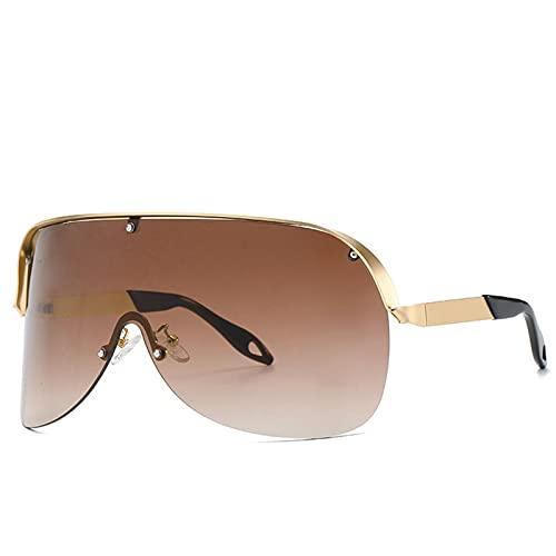 AMFG Gafas sin marco Gafas de sol Gafas de sol a prueba de soles a prueba de polvo y europeas y americanas Gafas de sol retro (Color : B)