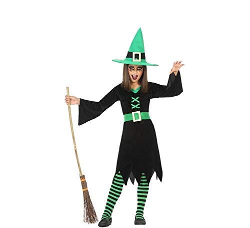 Atosa-55586 Atosa-55586-Disfraz Bruja para niña Infantil-Talla, Color verde 3 a 4 Años (55586