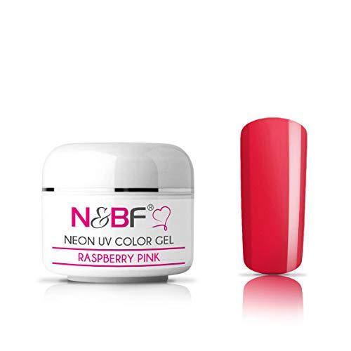 N&BF Neon Farbgel 5ml | Raspberry Pink (Pink) | UV Colour Gel für Gelnägel | Effektgel für künstliche Fingernägel mittelviskos | Made in EU | Nagelgel UV neon | Colorgel ohne Säure + selbstglättend