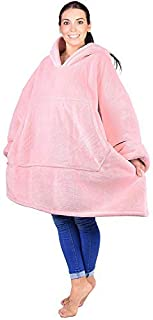 HENGYAN Oversized Hooded Blanket Sweatshirt, Super Soft, Comfortable, Comfortable Sherpa Giant Pullover with Large Front P...