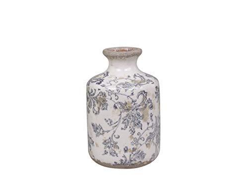 Chic Antique Melun Bottiglia Vaso Bottiglia Decorativa Porcellana con Francese Motivo H 17,5 x Ø 11cm
