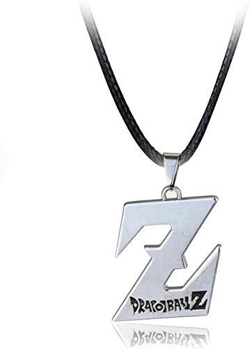 Xianglsp Co.,ltd Collar gótico Dragon Ball Collar Charm Plateado Z Logo Collares Pendientes para Hombres Joyería de Moda Accesorios de Cuello Fresco