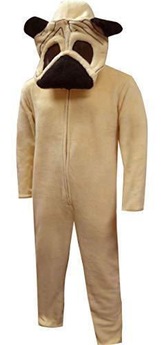 Bioworld Pug Dog Union Suit Onesie-Medium Brown