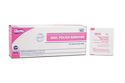 AMZ Nail Polish Remover Pads. Pack of 100 Acetone Free Remover wipes. 2-ply Saturated Pads. Cleansing pads. Effective and Easy to Use. Latex-free. Individually Packaged.