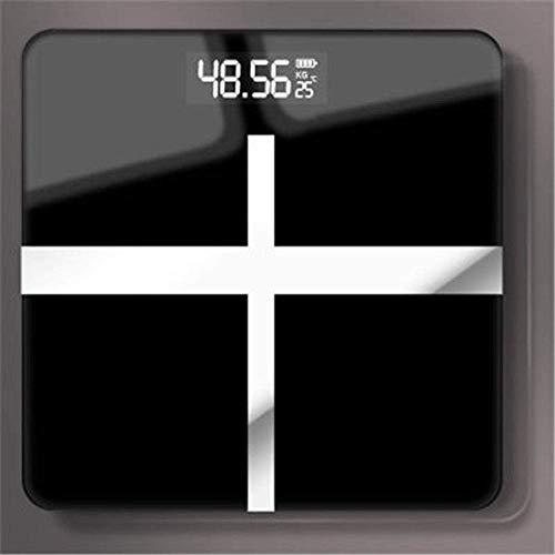 PYROJEWEL Balanza báscula de baño de Cuerpo, Elegante electrónico de la Pantalla LCD Escalas de Cuerpo Que Pesa la Escala de Peso Digital, 180Kg / 400lb