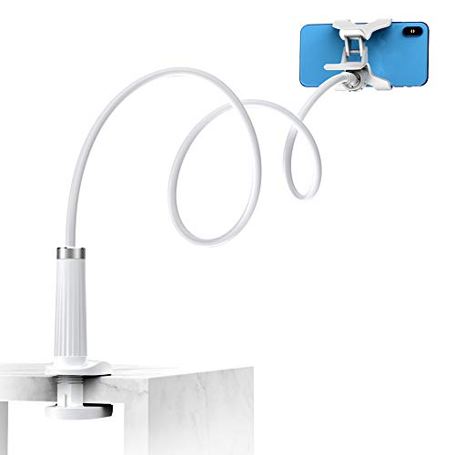 UGREEN Soporte de Móvil para Cama, Brazo Articulado para Mesa Pinza Aguantar Movil Flexible Cuello de Cisne Sujecion Universal Largo para Teléfono 4 a 7,2 Pulgadas Samsung S21 S9 S8, iPhone 12 11 Pro