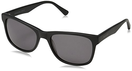 Obsidian Sunglasses for Women or Men Square Frame 02, Matte Black, 54 mm