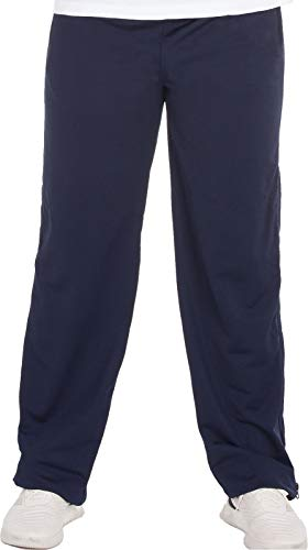 Henry Terre Reha Sweat Hose Herren Trainingshose Reißverschluss Jogginghose, Farbe:Navy, Größe:M