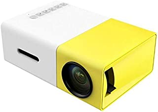 LED Mini Portable Projector with USB/SD/AV/HDMI Home Entertainment Projetor - Yellow
