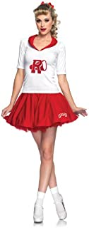 Leg Avenue Grease 2 Piece Rydell High Cheerleader Top with Applique and Matching Skirt