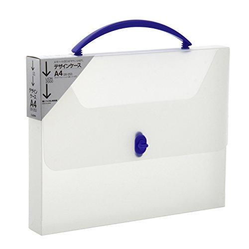 ライオン事務器 ケースファイル デザインケース A4 DS-253-TB 透明/ブルー
