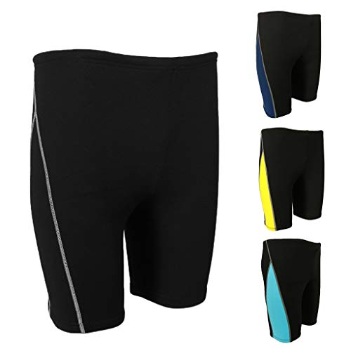 Z.L.FFLZ Nadelanzug Männer Wetsuit Shorts Super Stretch Neopren 1.8mm Warm Hose Rash Guard-Badeanzug for Schwimmen Surfen Tauchen Schnorcheln (Color : Blau, Size : 3XL Yellow)