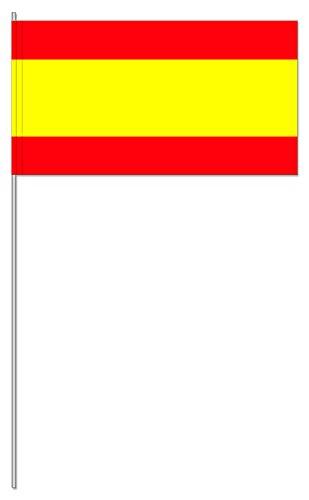 10 Fähnchen * SPANIEN * als Deko für Mottoparty oder Länder-Party // Flaggen Fahnen Papierfahnen flag rot gelb spain