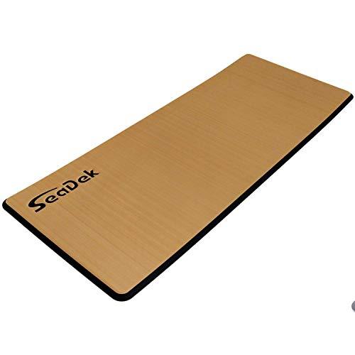 Castaway Customs | SeaDek 13mm Foam | Brushed Anti- Fatigue Helm Station Pad | Non Slip Boat Standing Mat | 3M Adhesive Backing | Size Small 14'x36' | Mocha/Black